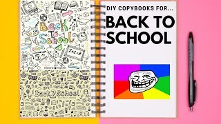 DIY weird copybooks (back to school edition)📚📖