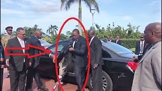 President Uhuru Almost KNOCKED DOWN by Car Door after Security FAILS Him