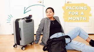 How to Pack for a Month Trip in a Carry-On | Tips & Tricks