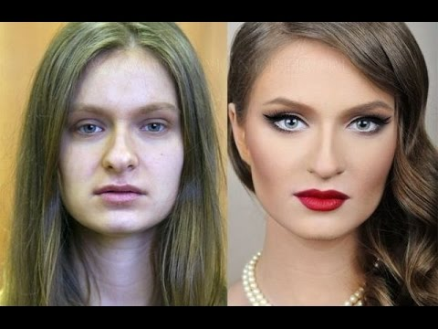 Посмотрите, как красивый макияж может изменить внешность. Девушки до и после