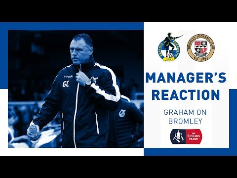 Match Reaction: Graham on Bromley