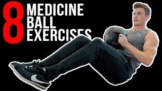 At Home Medicine Ball Ab Workout (8 EXERCISES!)