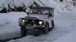 Defender Diaries: 4x4 winter extreme adventures rc Land Rover defender 90 feat defender 110 in snow