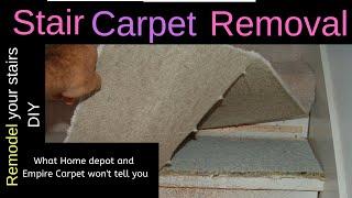 Carpet - Removing Carpet Stair Treads - What Home Depot and Empire Carpet won't tell you - Pt 1
