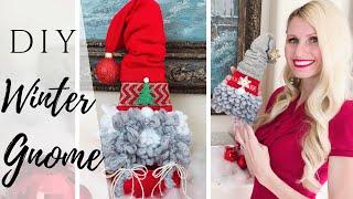 DIY WINTER GNOME   HOW TO CREATE A CHRISTMAS GNOME   SCANDINAVIAN GNOME