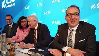 DJI Osmo Pocket Eröffnung der Winterklausur der CSU-Bundestagsfraktion