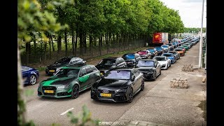 17x Audi RS6 2x R8 V10 FlyBy at RS Performance Day!