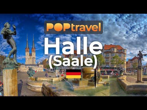 Walking in HALLE (Saale) / Germany 🇩🇪- 4K 60fps (UHD)