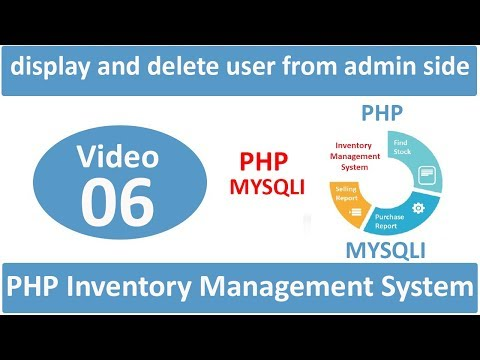 how to display and delete user from admin side in php ims