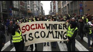 Европу охватила волна протестов: в Бельгии, Австрии и Сербии прошли митинги правых и их противников