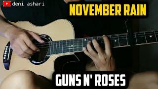 November rain - Guns N' Roses | guitar solo | fingerstyle guitar (versi gampang)