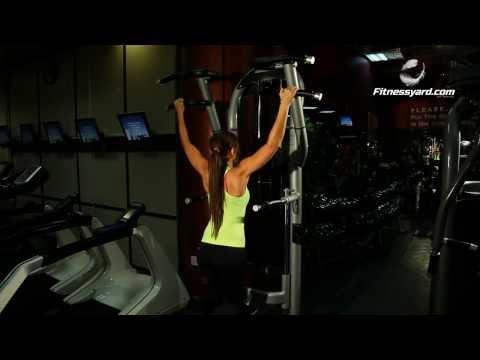 Back Exercises -- Machine Pull Ups