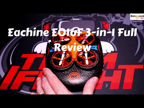 Eachine E016F 3 in1 Quad Whoov Hovercraft Full Review