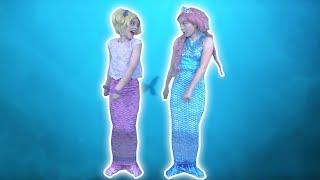 MAGICAL MERMAID TRANSFORMATION 🐠 Magic Fish Potions! - Princesses In Real Life   Kiddyzuzaa