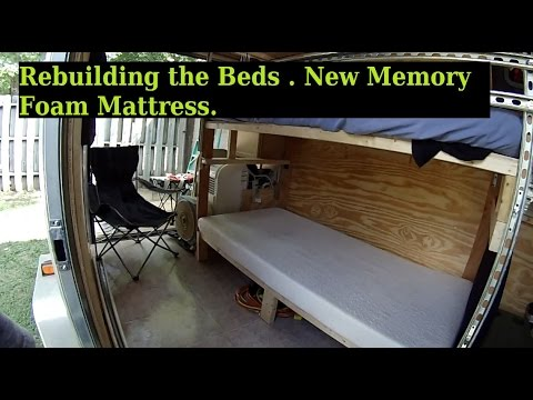 how to get a new mattress into a rv