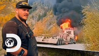 Tony Beet's Truck Goes Up In Flames! | Gold Rush