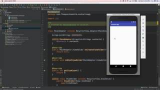 Android Tutorial: RecyclerView, ArrayList & CardView