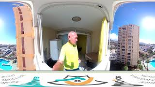 360 VR видео Тенерифе: Продажа  1 спальный апартамент в центре Las Americas