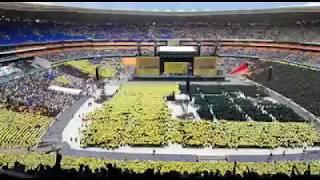 ZCC Paints FNB Stadium In Colours   Re Tla Mo Leboga Kang? #NationalDayofPrayer