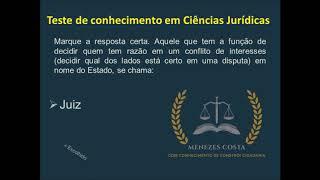 Teste de Conhecimento em Ciências Jurídicas - correção
