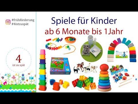 Spiele für Kinder von  6 Monate bis 1 Jahr  Baby Spiele und Baby Entwicklung  Spiele und Spielideen