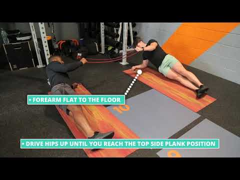 How To Do Partner Facing Side Plank with Band Row   Exercise Demo