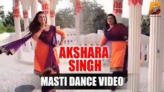 Akshara Singh Masti Dance Video On Set Majanuwa Planet Bhojpuri