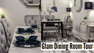 💎 GLAM LUXE DINING ROOM TOUR 2020 | GLAM DINING ROOM DECOR 💎