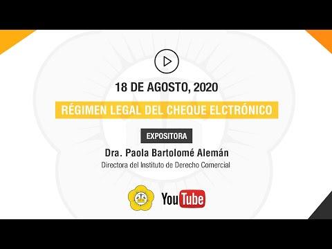 RÉGIMEN LEGAL DEL CHEQUE ELECTRÓNICO - 18 de Agosto 2020
