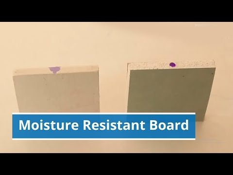 Moisture Resistant Gypsum Board - Water Resistant ...