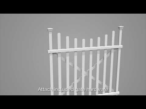 Manchester Vinyl Picket Gate Assembly & Installation