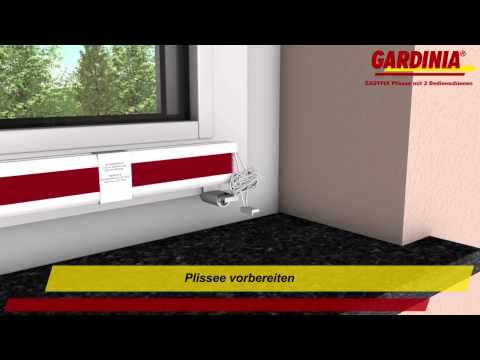 gardinia plissee easyfix klemmtr ger schnurlos. Black Bedroom Furniture Sets. Home Design Ideas