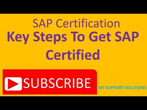 SAP Certification - Key Steps To Get Certified - YouTube