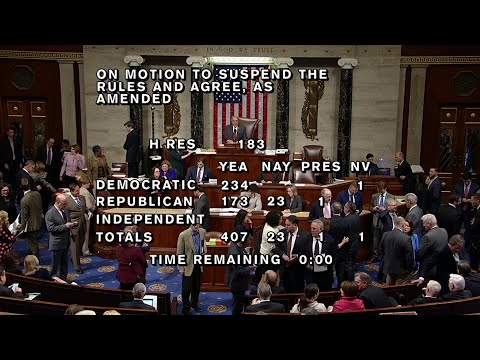 The House has passed a resolution condemning anti-Semitism, discrimination against Muslims and other bigotry against minorities. The 407-23 vote Thursday was a bid to end dissension among Democrats over Ilhan Omar's latest remarks on Israel. (March 7)