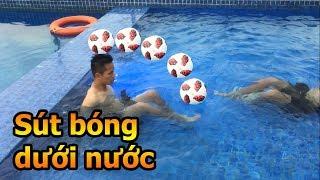 Thử Thách Đá Bóng dưới nước NA thách Đỗ Kim Phúc kỹ thuật hài hước nhất Việt Nam mùa Asian Cup 2019