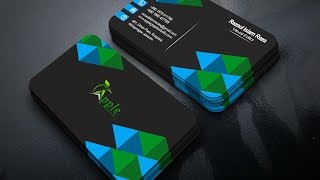 Modern black business card psd photoshop tutorial most popular how to create a 3d business card photoshop tutorial reheart Gallery