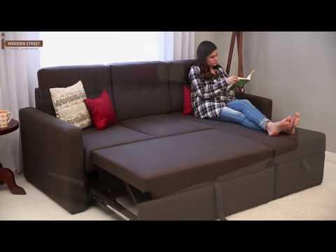Sofa Cum Bed – Alfonso Convertible Fabric Sofa Cum Beds