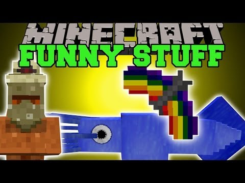 Minecraft: FUNNY STUFF (CRAZY ITEMS, GIANT SQUIDS, & MORE!) Mod Showcase
