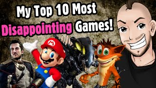 Top 10 Most Disappointing Games! - Caddicarus