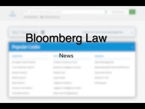 Bloomberg Law: News