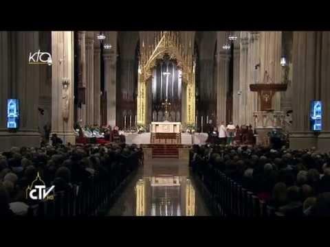 Vêpres du Pape avec les religieux en la cathédrale de New-York