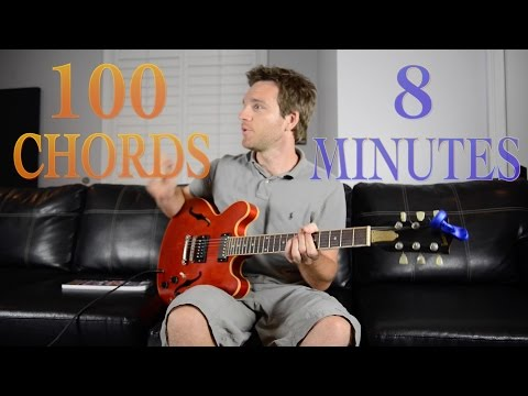 Learn 100 Guitar Chords in 8 Minutes