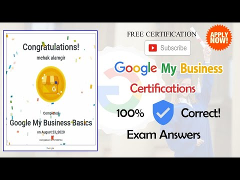 Google My Business Certification Exam Answers - YouTube