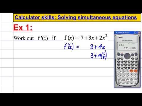 CASIO FX 991ES PLUS - Calculator skills - differentiation