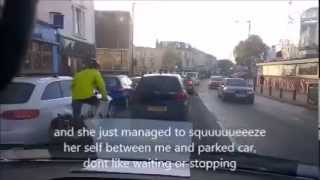 preview picture of video 'Bristol stupid cyclists in white ladies road'