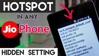 How To Enable Hotspot In Jio Phone 2019 | Start & Turn On Hotspot in Hindi