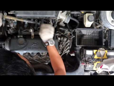 Фото к видео: How to Full Remove, Cleaning Fuel Injection & Tune Up Hyundai Accent