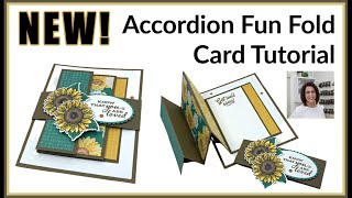 🔴How to Make an Accordion Fun Fold Card and Celebrate Sunflowers!