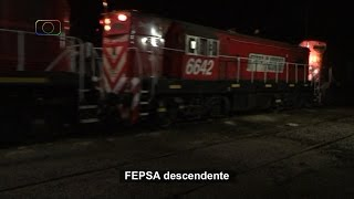 preview picture of video 'Tren nocturno de FEPSA pasando por Darregueira'