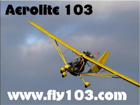 Aerolite 103, part 103 legal single place ultralight aircraft video.